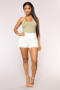 On The Boardwalk Crochet Short - White