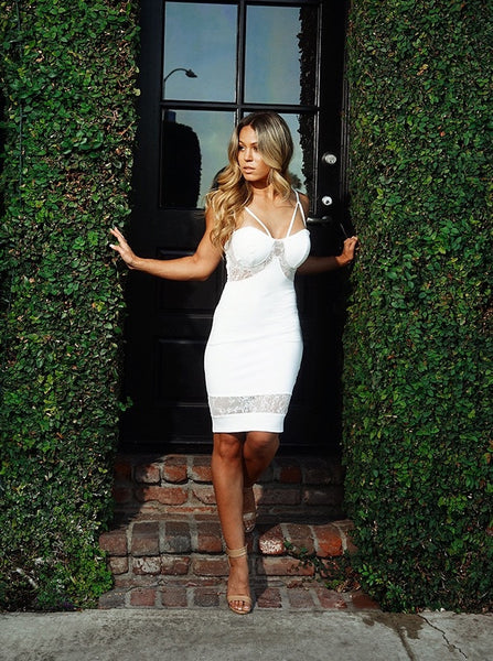 Curves and Edges Dress - Ivory
