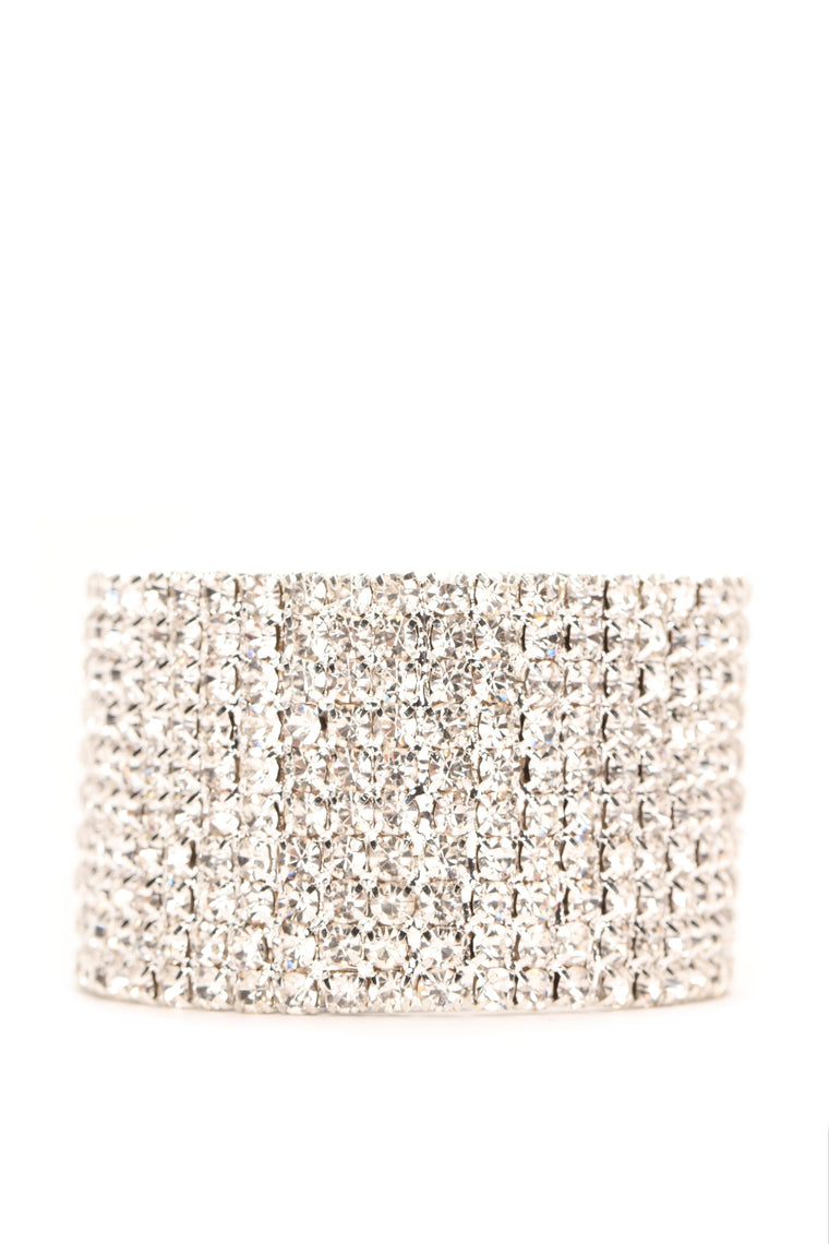 Want You Hair Band Cuff - Silver