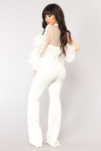 For The Frill Of It Top - White