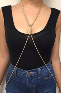 Serpentine Bodychain - Gold