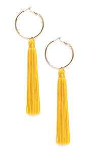 So Not A Tassel Earrings - Mustard