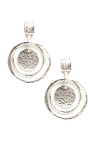 Metal In My Business Earrings - Silver