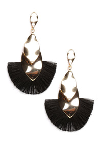 Tassel Me Around Earrings - Black
