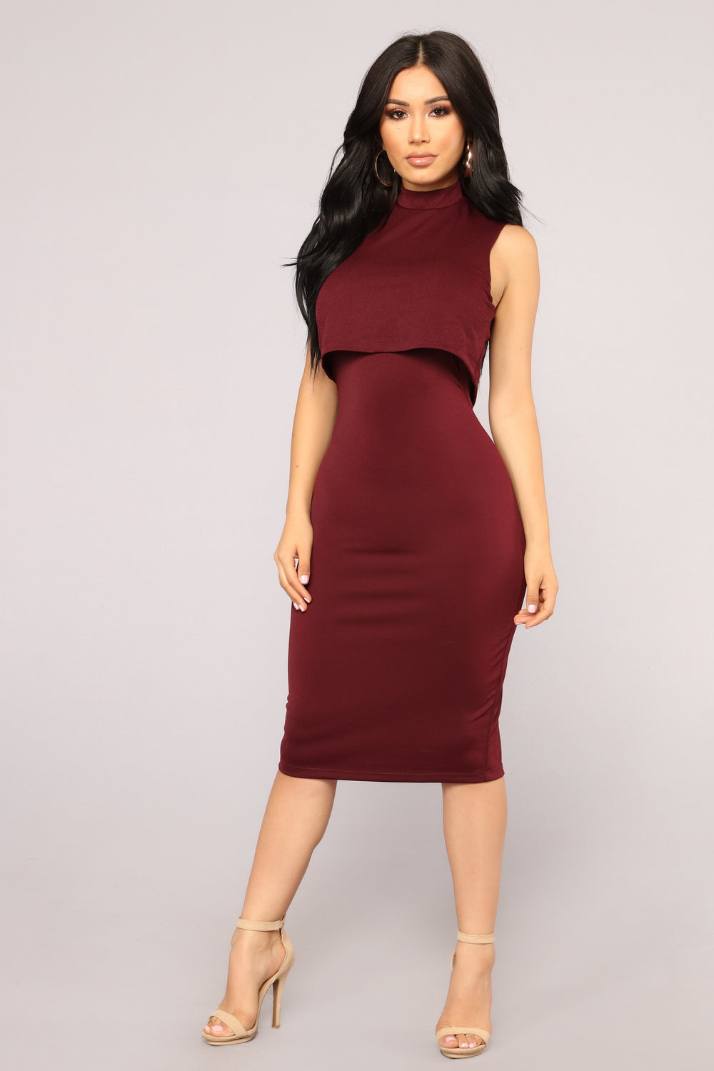 Long Cut-Out Burgundy Red Glitter Prom Dress-PromGirl  Maroon Dress