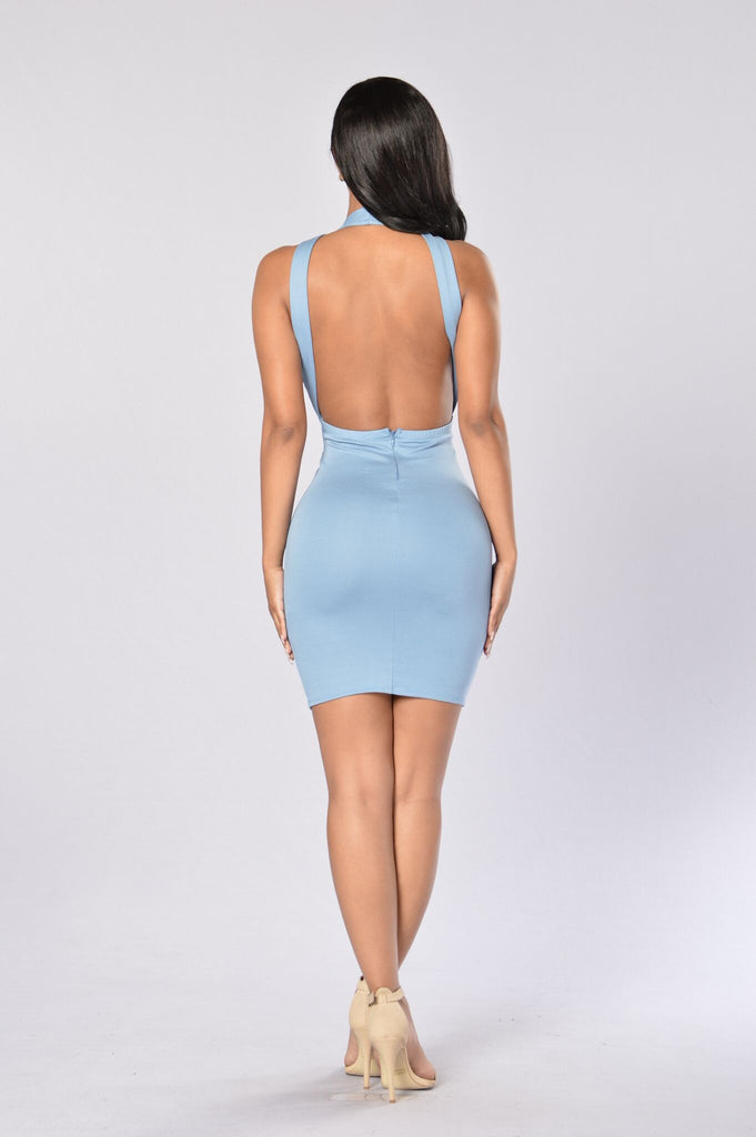Va Va Voom Dress - Light Blue