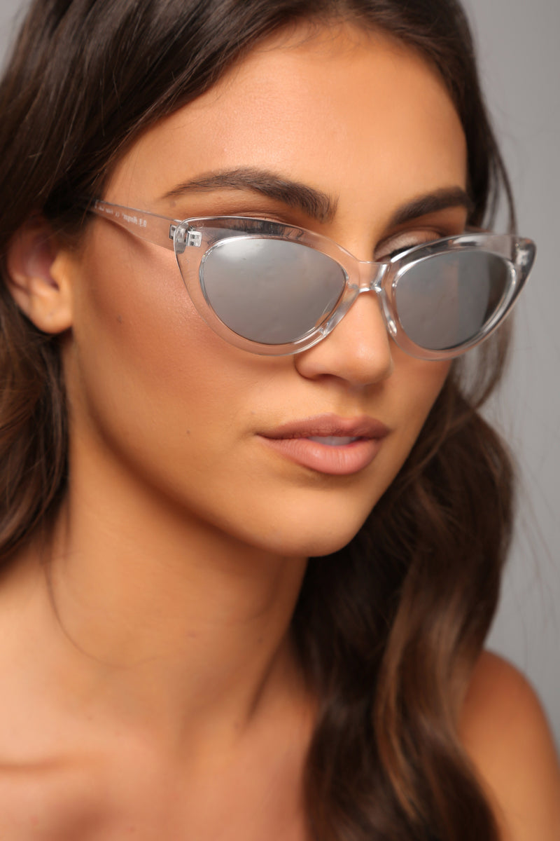 See Right Through You Sunglasses - Crystal Clear