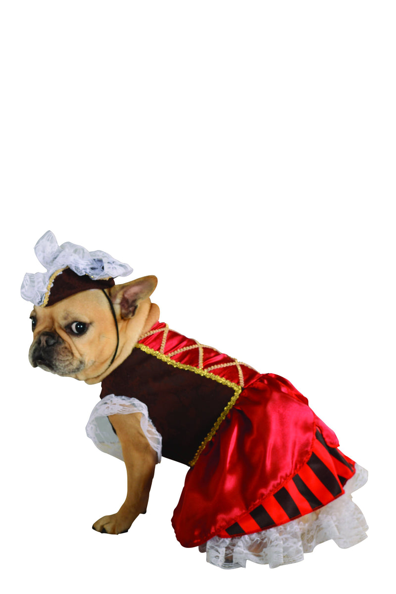 Pirate Girl Pet Costume - Red/Combo