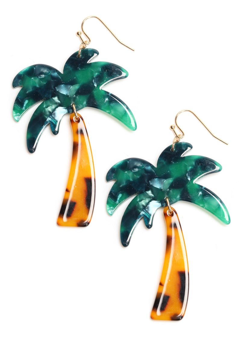 All Shade Palm Tree Earrings - MultiColor
