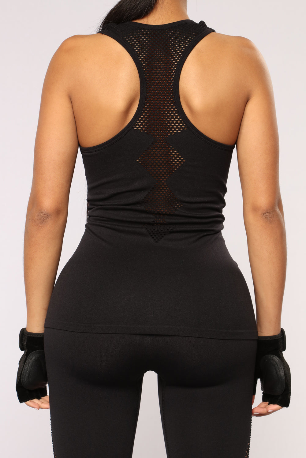 Try Me Out Seamless Active Top - Black