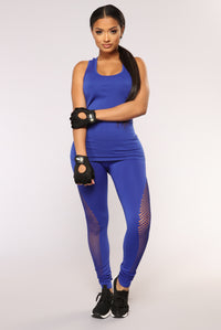 Lift It Seamless Active Leggings - Royal Angle 3