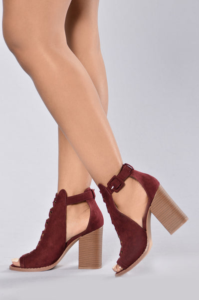Autumn Heel - Burgundy