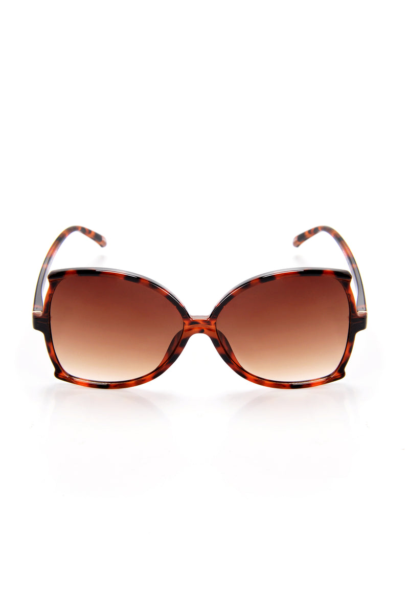 Hold The Sass Sunglasses - Tortoise/Brown
