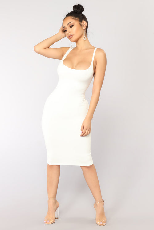 Gigi Midi Dress - Off White