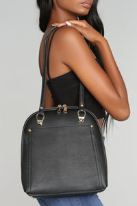 Minimal Convertible Bag - Black