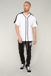 Robby Short Sleeve Woven Top - White