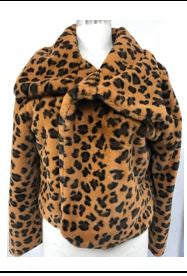 Feeling Extra Wild Leopard Jacket - Brown