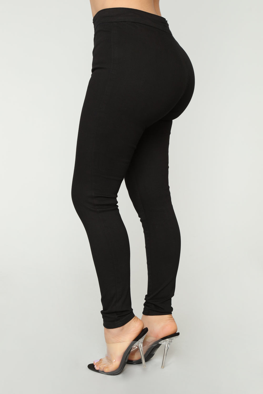 Hook n Eye Ankle Jeans - Black