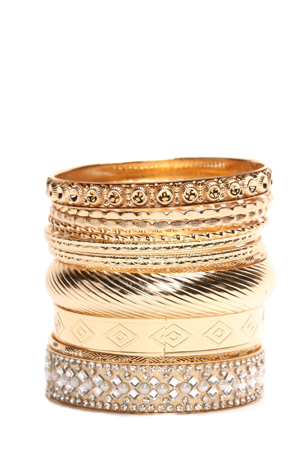 The Whole Squad Bangle Set - Gold