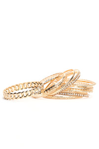 The Whole Fam Bam Bangle Set - Gold
