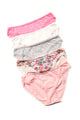 Cozy Fit Lace Trim Bikini 5 Pack Panties - Pink/combo