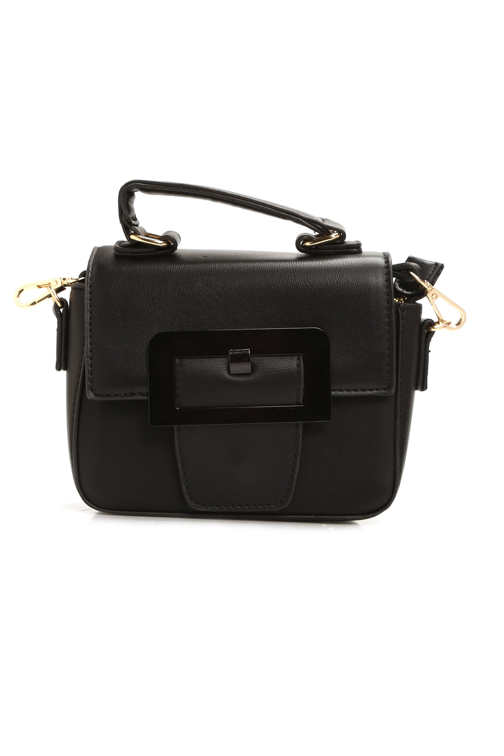 Buckle Up Crossbody Bag - Black
