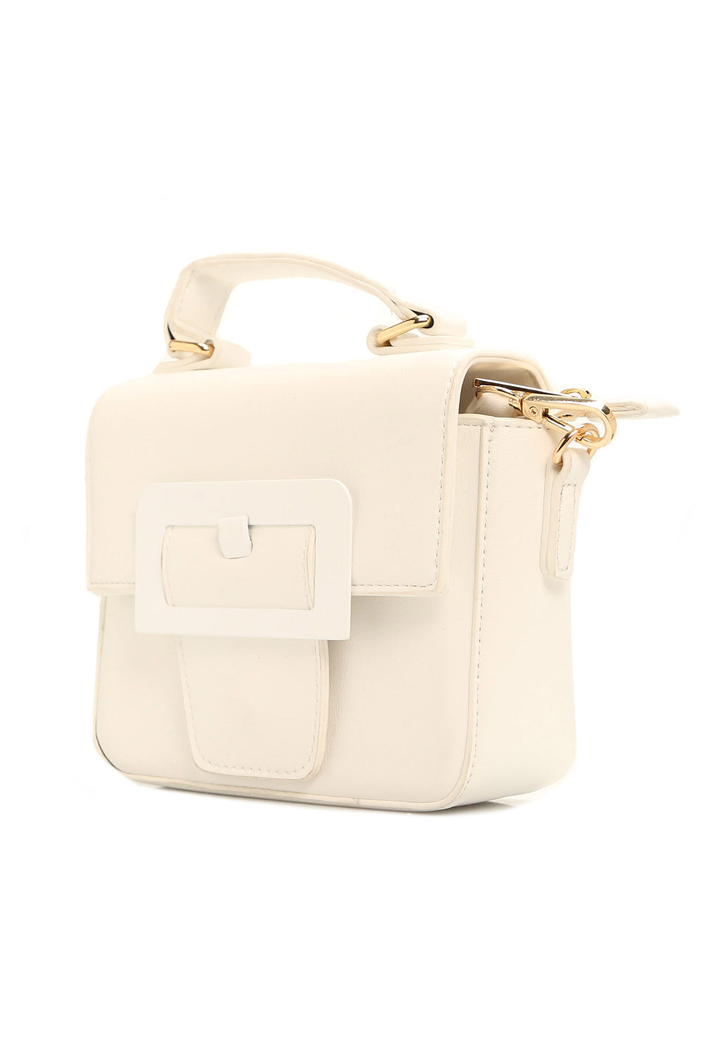 Buckle Up Crossbody Bag - White