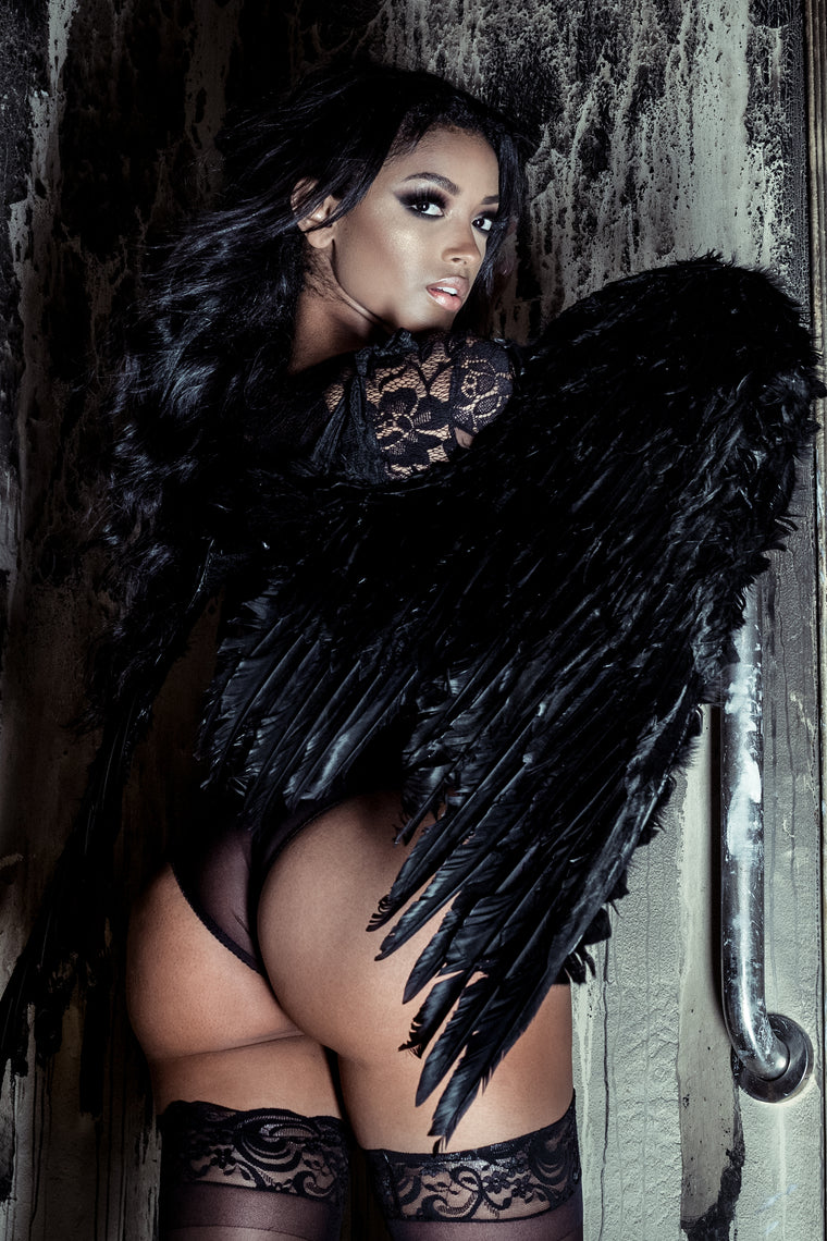 Feather Wings - Black