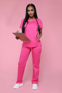 No More Pain Scrub Pant - Candy Pink