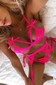 Body Language 3 Piece Garter Set - Hot Pink