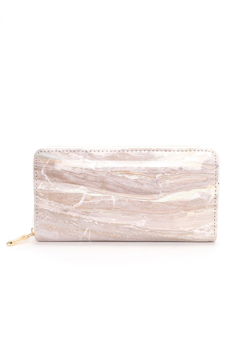 Rock On Marble Wallet - Beige
