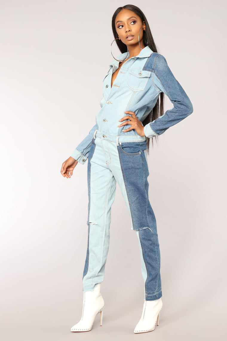 Compare And Contrast Jumpsuit - Denim