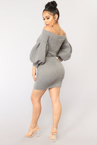 Kristine Graphic Tunic - Grey Angle 4