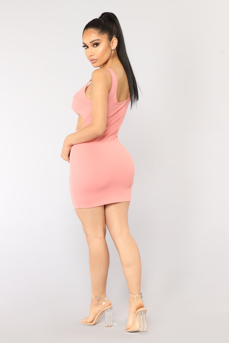 No Rings Attached Dress - Dusty Rose