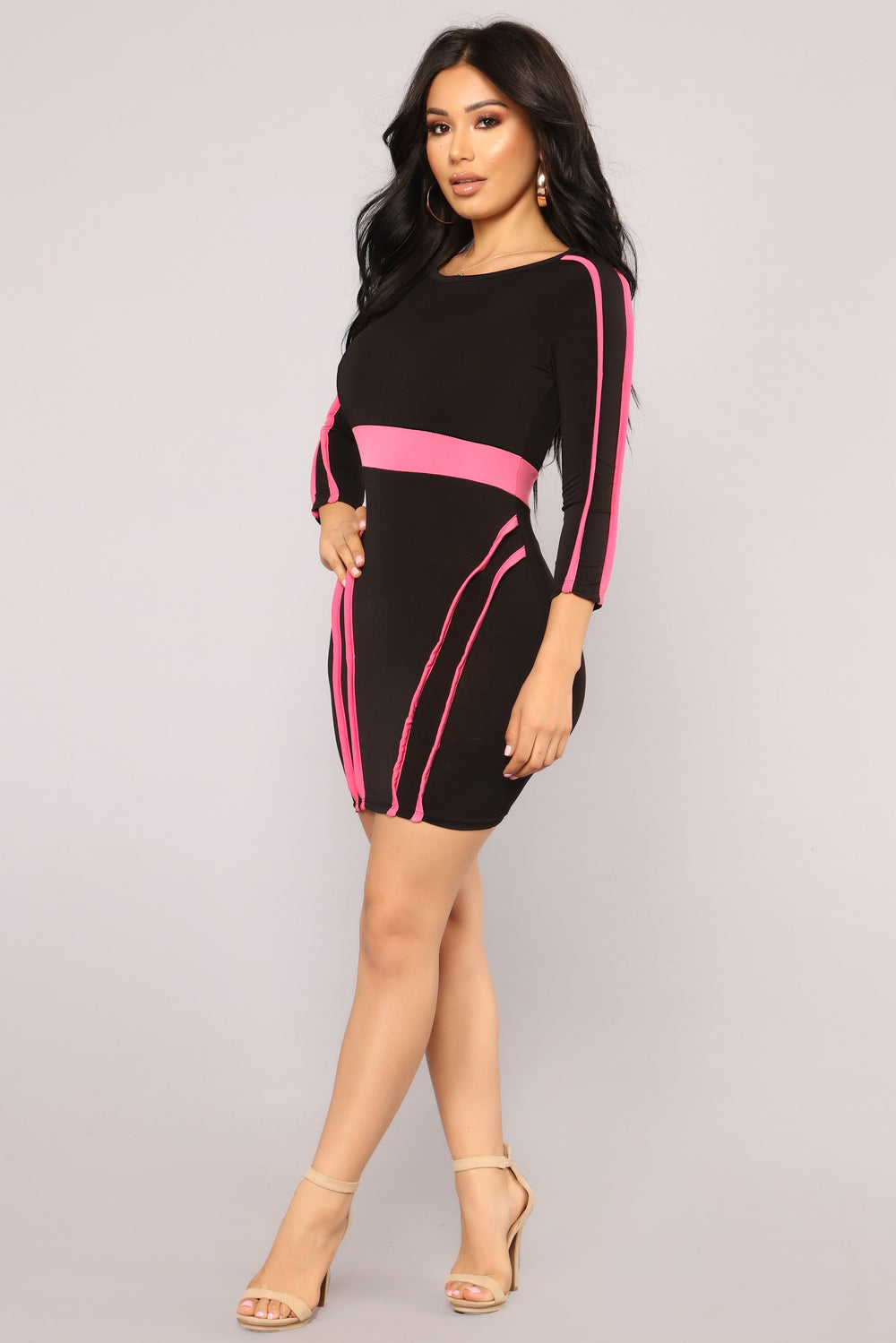 Born To Love You Mini Dress - Black