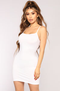 Katie Cami Slip Dress - White