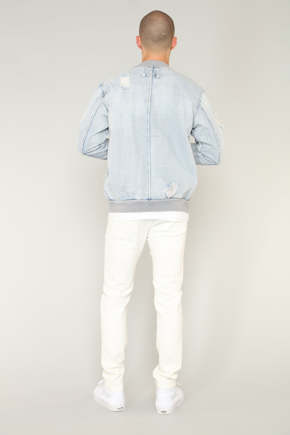 Acid Denim Jacket - Light Indigo