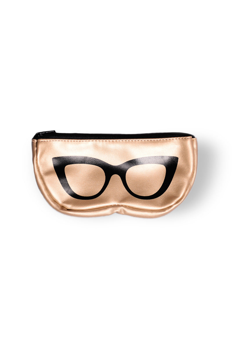 Smarty Pants Sunglass Case - Gold