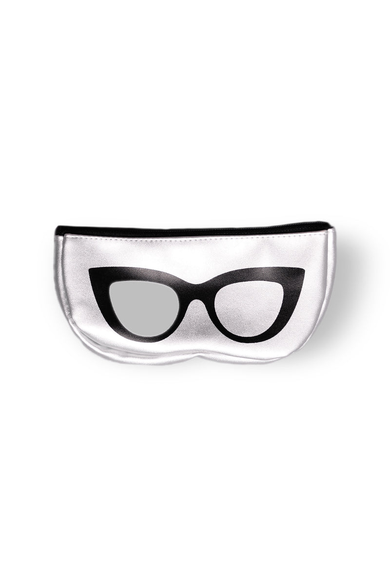 Smarty Pants Sunglass Case - Silver
