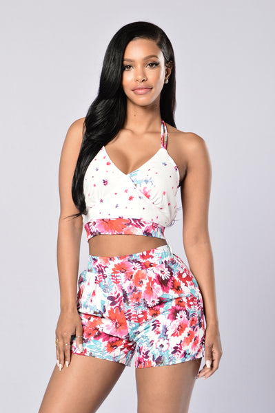 Floral Frenzy Top - Floral