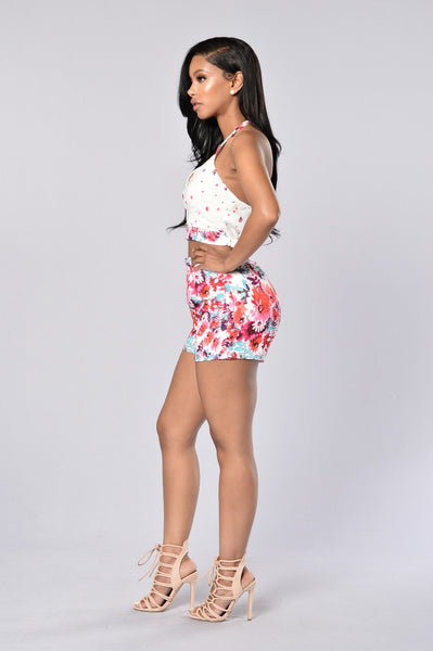Floral Frenzy Shorts - Floral