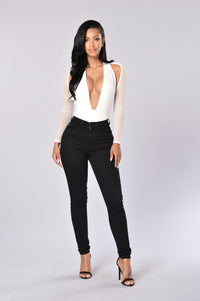 Dip It Low Bodysuit - White Angle 4