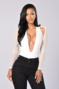 Dip It Low Bodysuit - White Angle 1