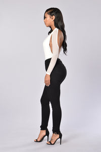 Dip It Low Bodysuit - White Angle 3