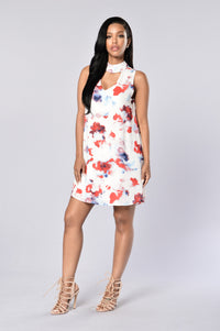 Trina Shift Dress - White Angle 1