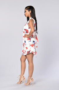 Trina Shift Dress - White Angle 3