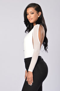 Dip It Low Bodysuit - White