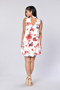Trina Shift Dress - White Angle 2