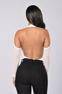 Dip It Low Bodysuit - White Angle 2