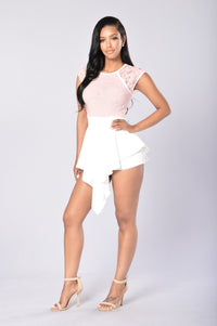Lace And Love Romper - Blush Angle 2